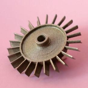Тестовая 3D печать турбины из металла