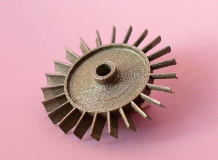 3D печать турбины микро турбореактивного двигателя из металла