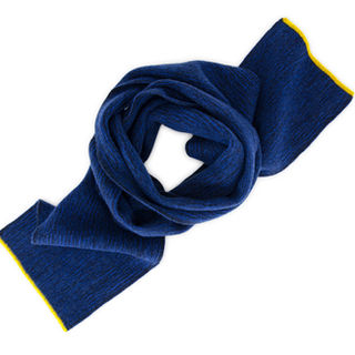 Colour block navy and electric blue