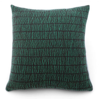Grey/brown and green spruce cushion