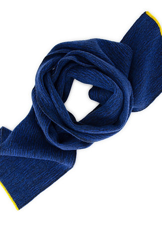 Larch Stripe Scarf, Navy and Electric Blue