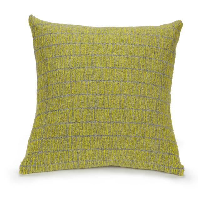 Grey and mustard spruce cushion