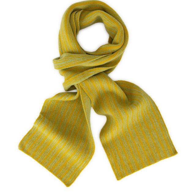Mustard and aqua wide stripe