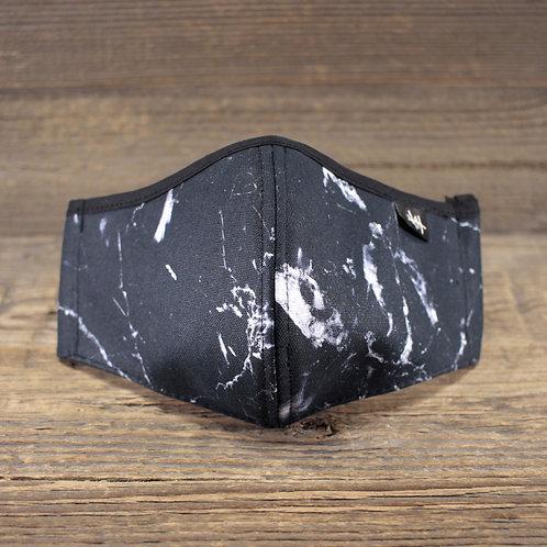 Face Mask - Marble Black V2