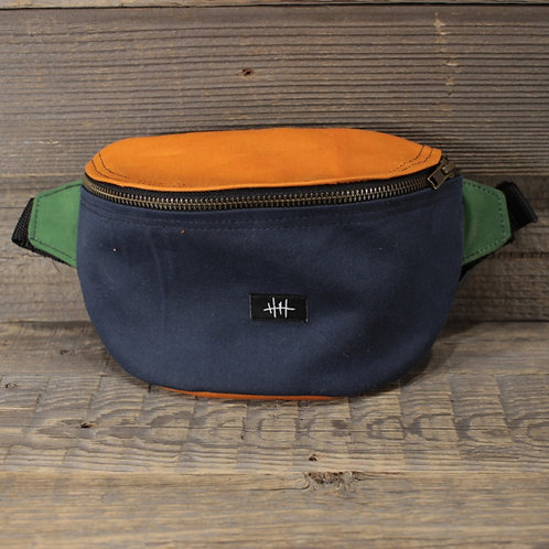 Bum Bag | Wax | blue x green x orange