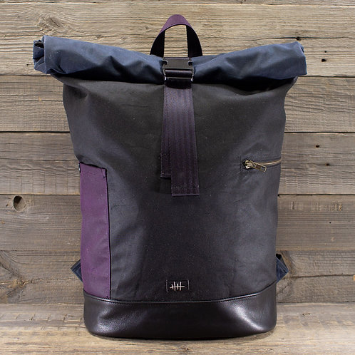 Rolltop - Wax Combination Black, Navy & Purple
