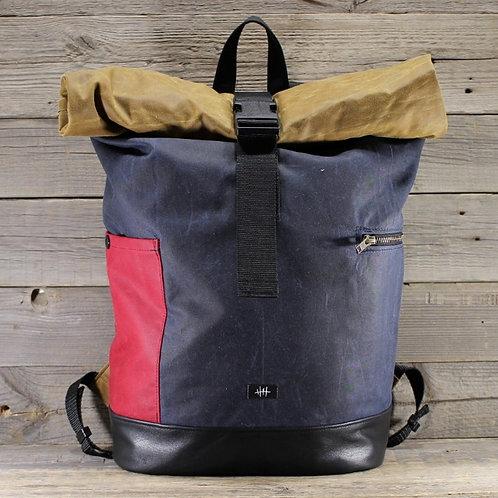 Captn Crop, Backpack , Rolltop, wax cotton