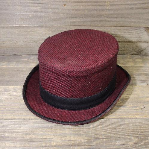 Top Hat - Bordeaux Striped