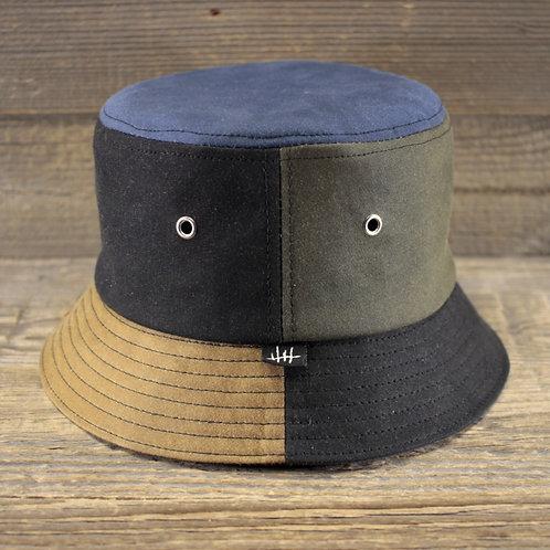 Bucket Hat - Wax Combo: Green, Blue & Sand