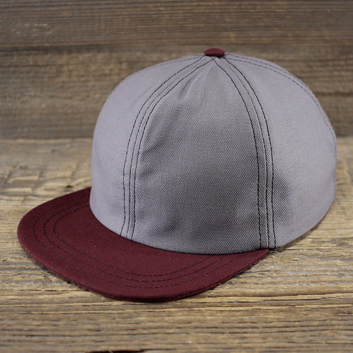 6-Panel - Grey & Red Canvas
