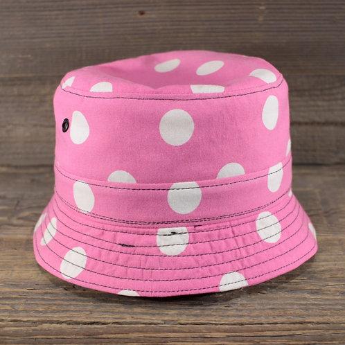 Bucket Hat - Pink Dots