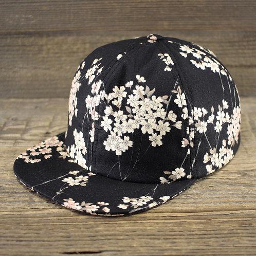 6-Panel Cap - Sakura Black