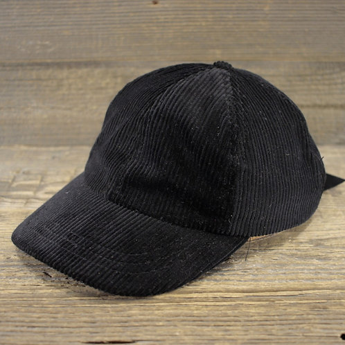 Dad Cap - Black Corduroy