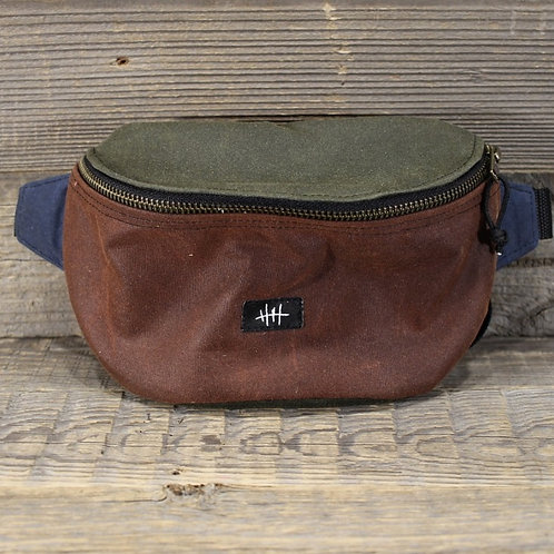 Bum Bag - Wax - Chestnut x Green x Blue