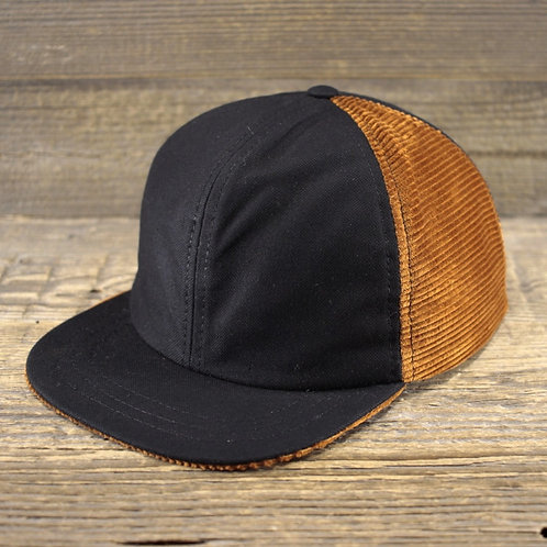 6-Panel Cap - BOURBON X PANAMA BLACK