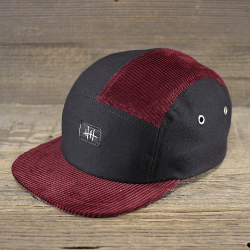 5-Panel Cap - Manchester Blood x Panama Black