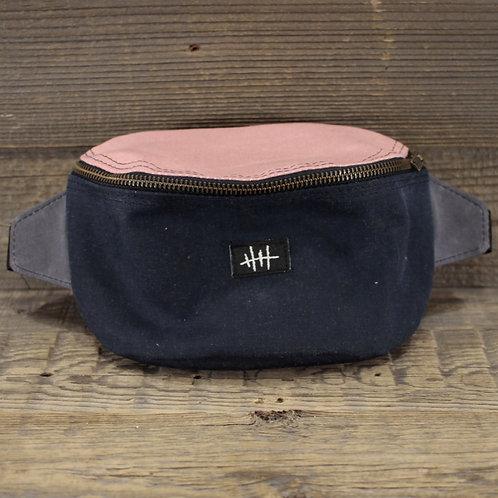 Bum Bag | Wax | pink x grey x blue