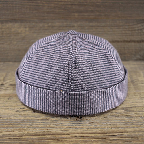 Docker Cap - Lilac Stripes