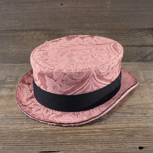 Top Hat - Pink Damask