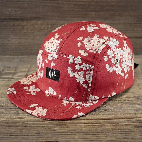 5-Panel Cap - Sakura Red