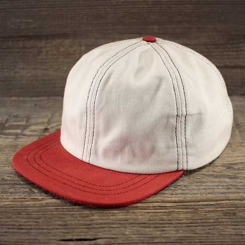 6-Panel - Ivory & Red Canvas