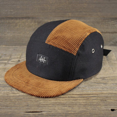 5-Panel Cap - Bourbon x Panama Black