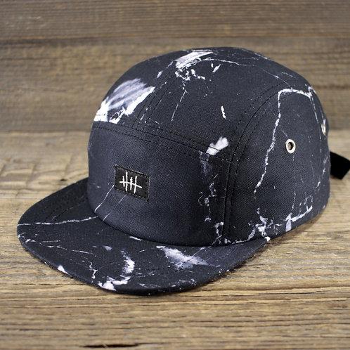 5-Panel Cap - Marble Black