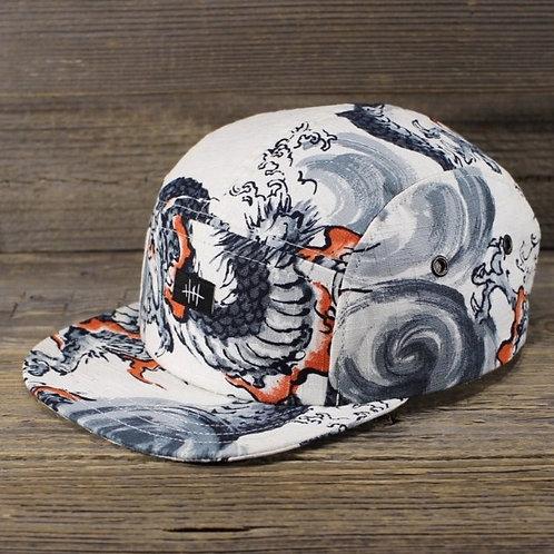 5-Panel Cap - White Dragon