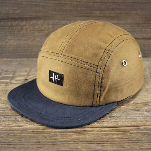 5-Panel Cap -  Sand Wax & Blue