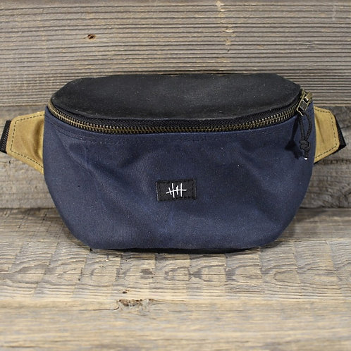 Bum Bag - Wax - Blue x Black x Sand