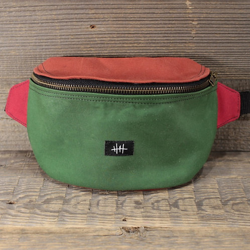 Bum Bag | Wax | green x orange x red