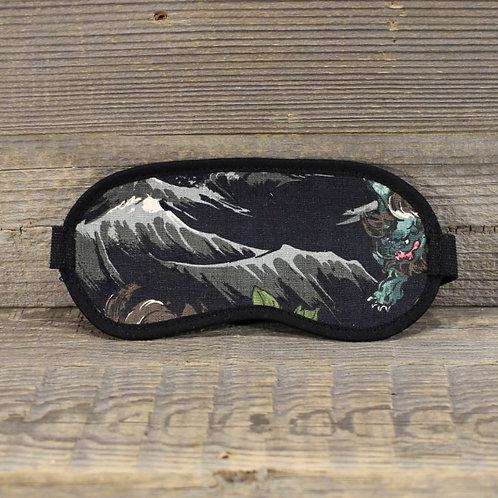 Eye Mask - Black Dragon