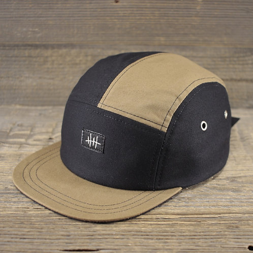 5-Panel Cap - Sand x Panama Black