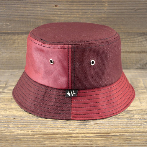 Bucket Hat - Wax & Canvas: Combination Rot