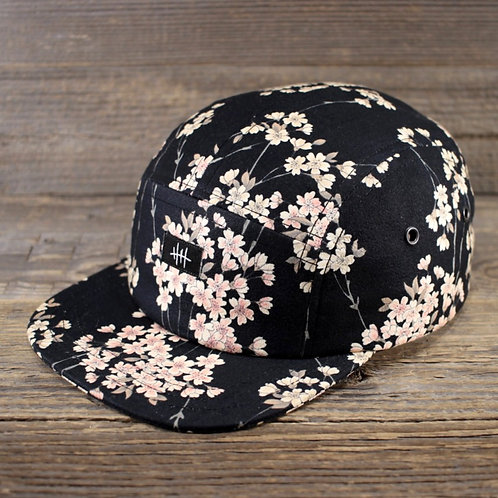5-Panel Cap - Sakura Black