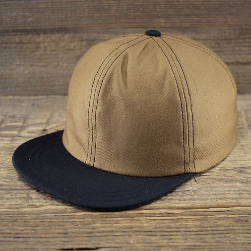 6-Panel - Sand & Navy Canvas