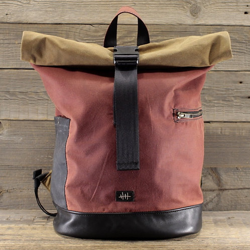 Rolltop - Wax Combination Baked Earth, Sand & Grey Sale/Size S