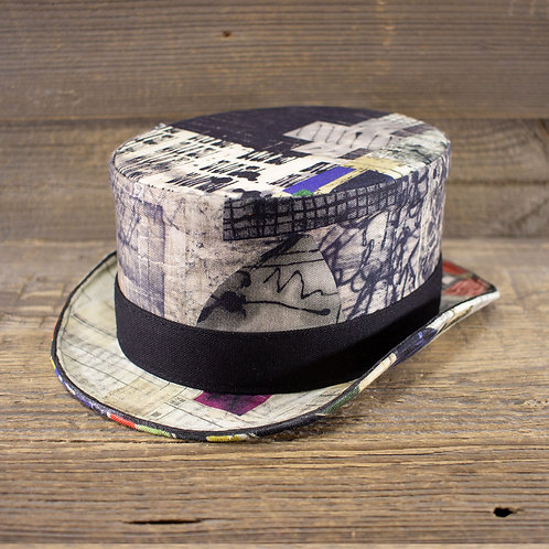 Top Hat - Ink Collage