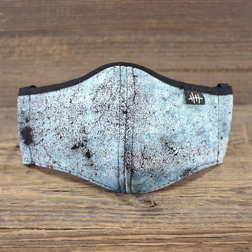 Face Mask - Concrete  Blue V2