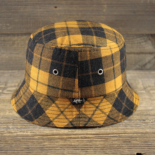 Bucket Hat - YELLOW TARTAN