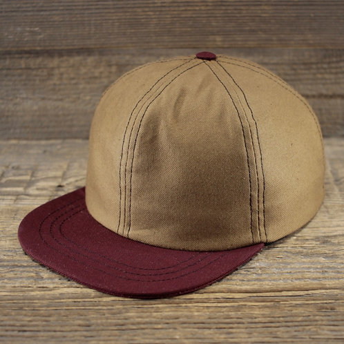 6-Panel - Sand & Red Canvas