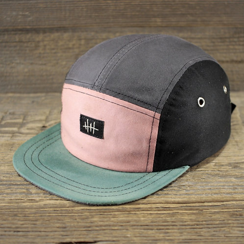 5-Panel Cap - Wax Combi - Black, Mint & Stone