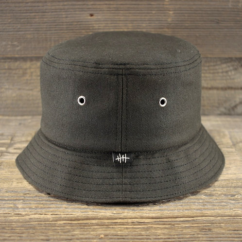 Bucket Hat - GREEN COATED CANVAS