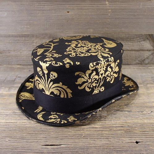 Top Hat - Golden Skulls