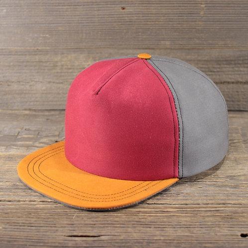 Trucker Cap -Grey, Red & Orange