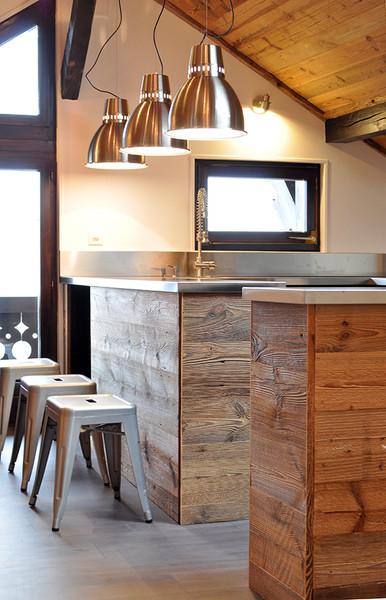 Appartement à Morgins Rénovation & décoration © Gris Souris