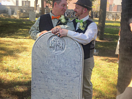 Yeah, we got married in a cemetery.