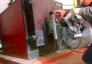Revisando de calderas industriales