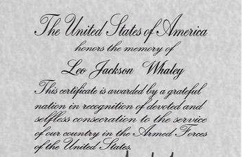 Leo's Presidential letter