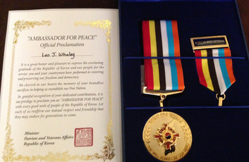 Leo's Korean War Service Medal
